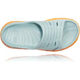 Hoka One One Ora Recovery Slide Sandalias Mujer, azul/naranja